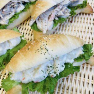 小山市パン屋オレアのサンドイッチ