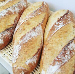 小山市パン屋オレア天然酵母のバタール・ハード系バゲット